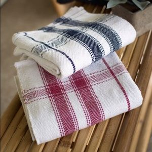 Only 1 LEFT- Red Plaid Edging Cotton Cloth